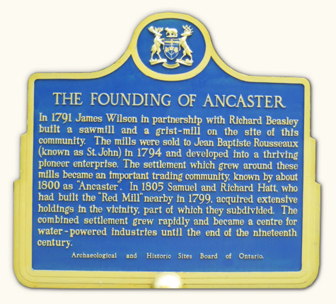 Ancaster Township Historical Society